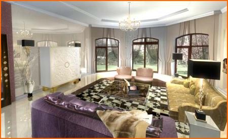 Дизайн гостиной в оливковом цвете
