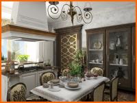 Кухня в английском классическом стиле - фото.